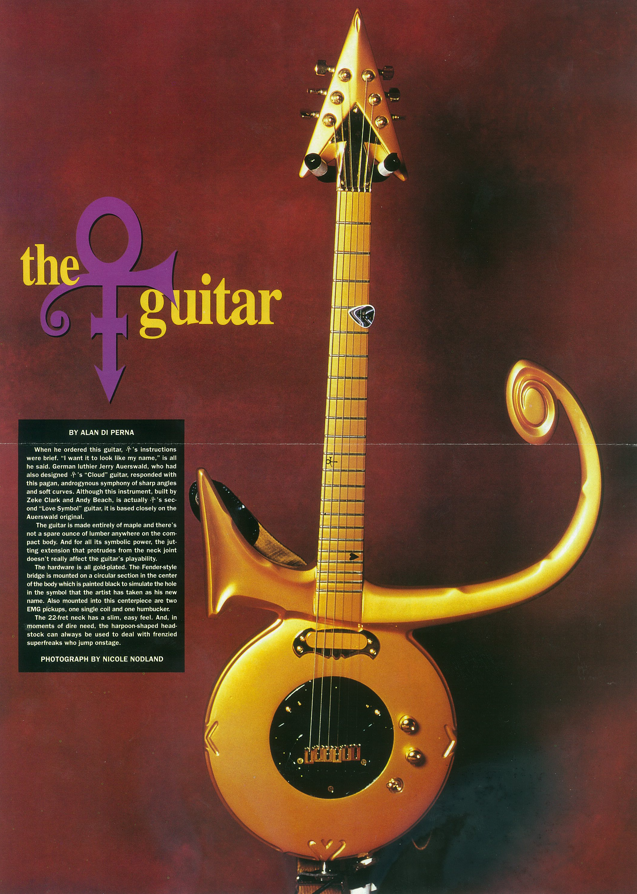 Dhaitre guitars bellingham wa since 1980 prince guitar nov 1997 the guitarist formerly known as prince buycottarizona